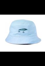 Snack Snack Angler Bucket Hat -Blue/Khaki