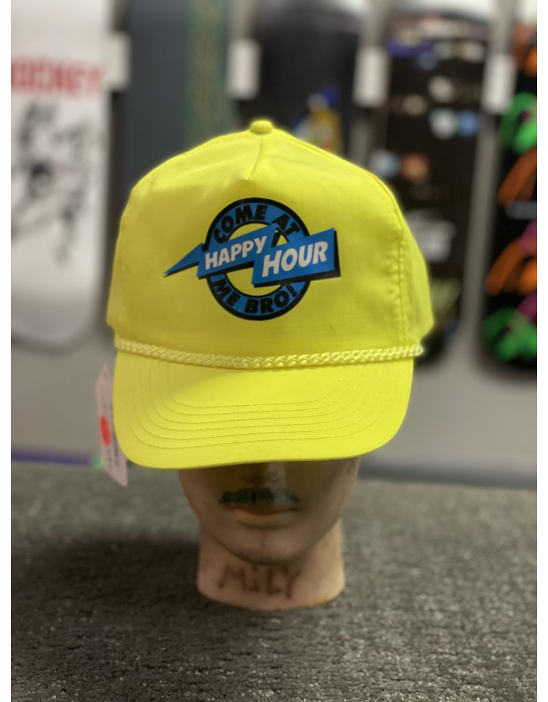 Happy Hour Happy Hour Come at me Bro! Nylon Hat - Yellow
