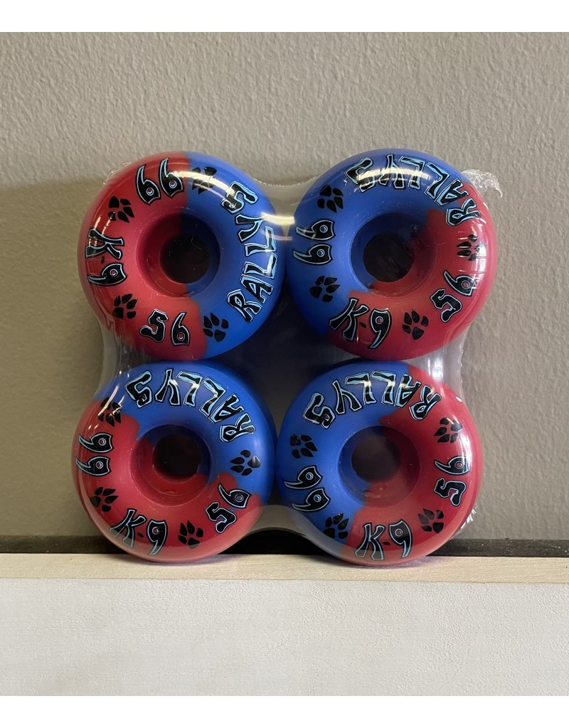 Dogtown Dogtown K-9 Rallys Blue/Red 56mm 99a Wheels (set of 4)