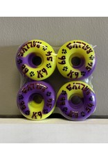 Dogtown Dogtown K-9 Rally's Yellow/Purple 54mm 99a Wheels (set of 4)