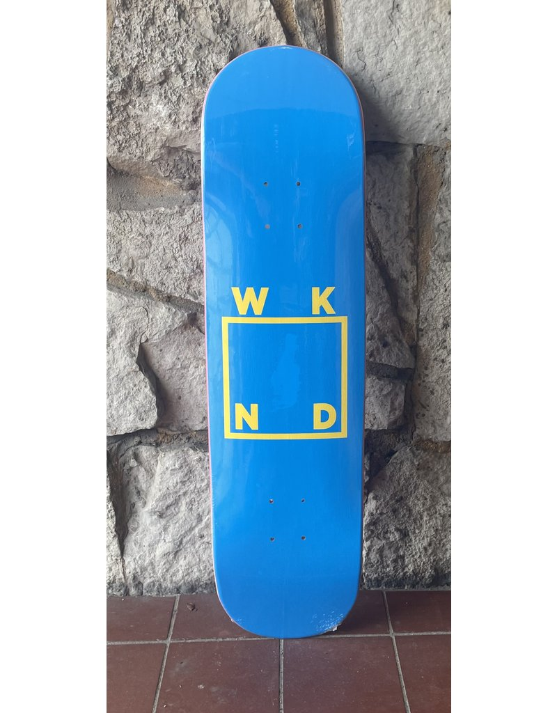 WKND brand WKND Blue/Yellow Logo Deck - 8.25 x 32