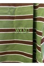 WKND brand WKND Stripe T-Shirt - Green/Brown