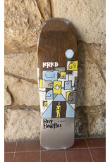 Krooked Krooked Barbee Trifecta Shaped Brown Stain Deck - 9.5 x 31.75