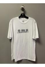 Dial Tone Wheel Co. Dial Tone Piano Man T-shirt - White (size Large)