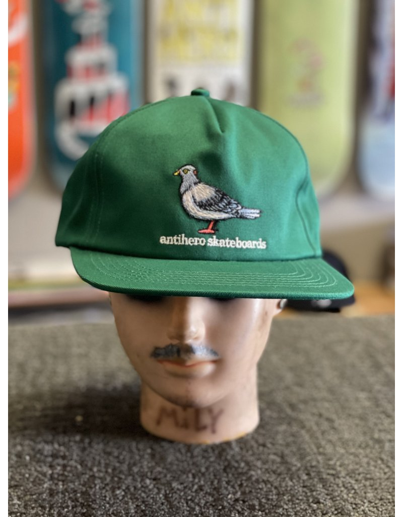 Anti-Hero Anti-Hero Lil Pigeon Snapback Hat - Dark Green