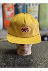 Krooked Krooked Eyes Snapback Hat - Gold/Red