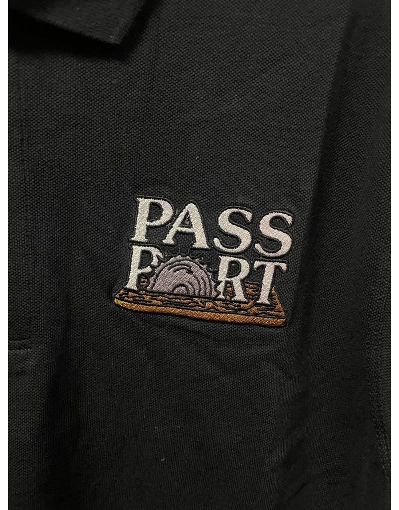 Pass~Port Pass~Port Circle Saw Embroidery Polo - Black