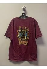 Black Label Black Label Lucero OG Bars T-Shirt - Burgundy