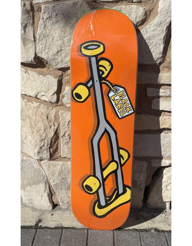 Black Label Black Label Crutch Orange Deck - 9.0 x 33