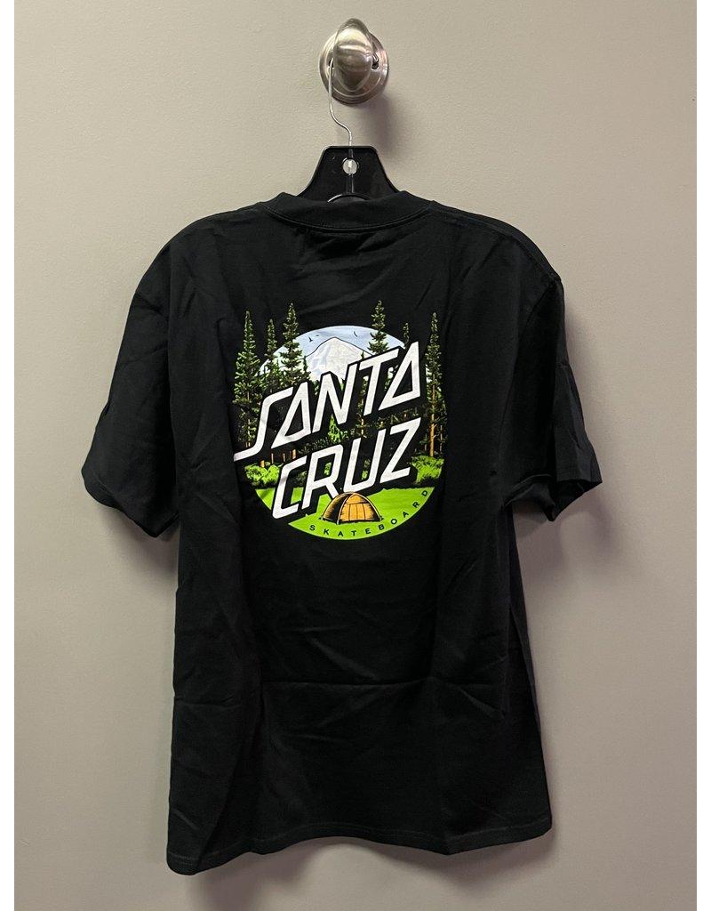 Santa Cruz Santa Cruz Braun Camping Dot T-shirt - Black