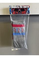 StrangeLove StrangeLove Cinelogo Stripe Socks - Grey