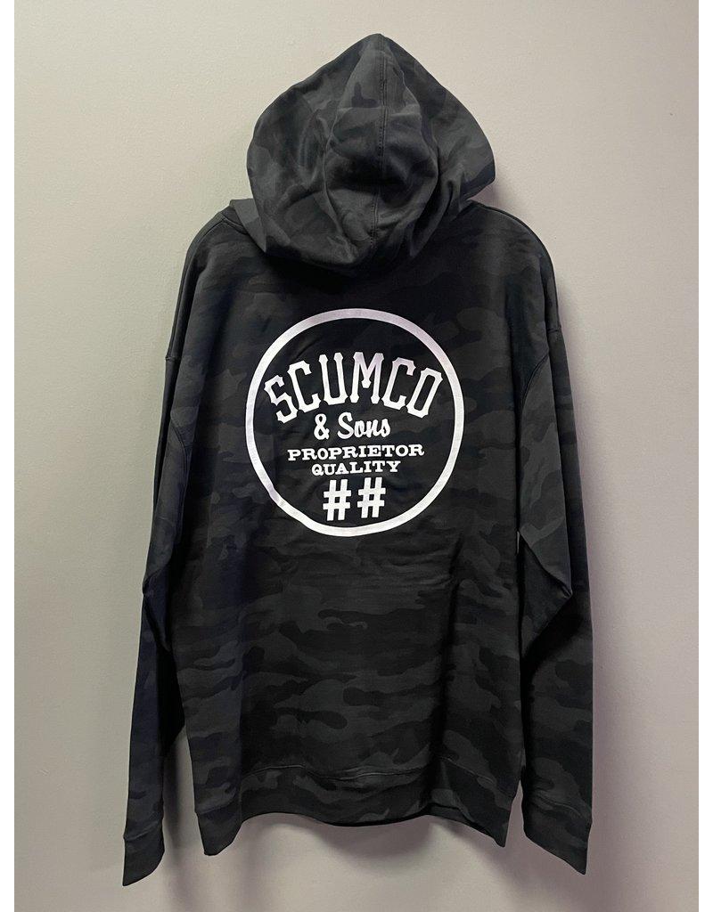 Scumco & Sons Scumco & Sons Burgles Hoodie - Blackout Camo