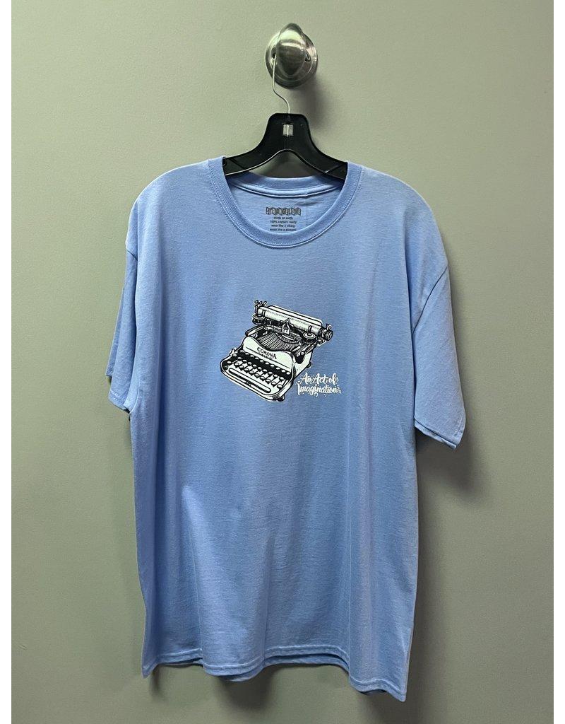 StrangeLove StrangeLove Typewriter Todd Bratrud T-shirt - Electric Blue