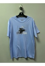 StrangeLove StrangeLove Death on a Bike Todd Bratrud T-shirt - Electric Blue