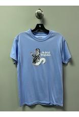 StrangeLove Strangelove Bukowski Bookworm Todd Bratrud T-shirt - Electric Blue