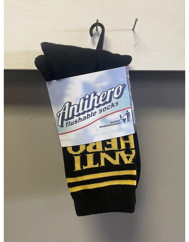 Anti-Hero Anti-Hero Black Hero If Found Socks - Black/Yellow