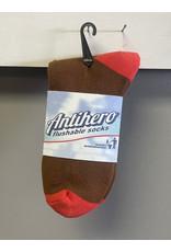 Anti-Hero Anti-Hero Black Hero Outline Socks - Brown/Red