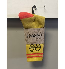 Krooked Krooked Eyes Socks - Gold/Red/Black