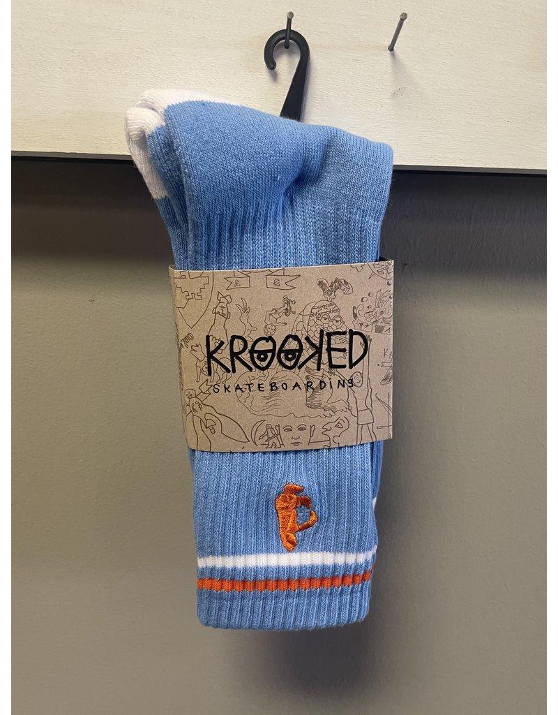 Krooked Krooked Shmoo Socks - Blue/White/Orange