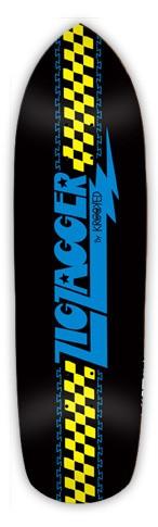 Krooked Krooked Zig Zagger Black Deck - 8.60