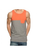 Vans Vans Burke Tank - Living Coral/Concrete Heather (X-Large)