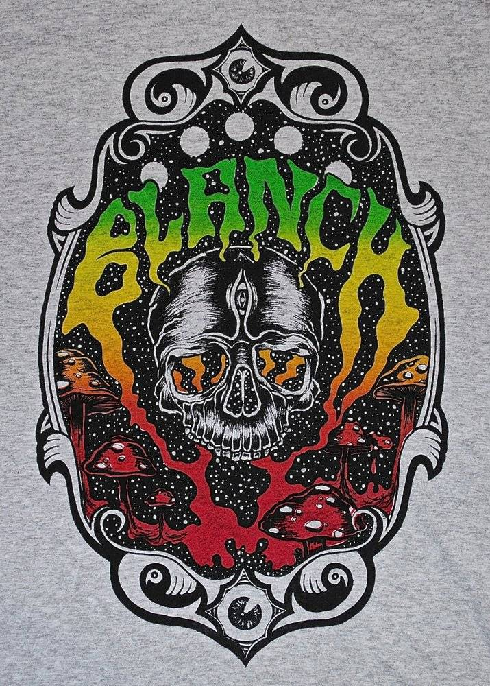 Blanch Blanch Skull Trip T-shirt - Grey