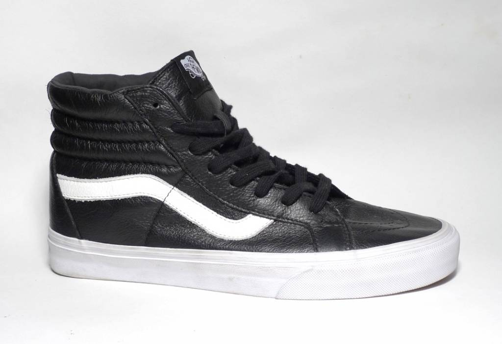 2d98c7a5efba Vans Sk8-hi Reissue Premium Leather - Black White - FA SKATES