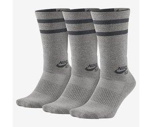 45bb7e4f5f3 Nike SB Nike sb Dry Crew Socks 3 pack- Heather Grey Dark Grey (Large 8-12)  - FA SKATES