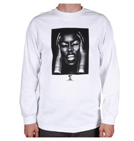 Theories Brand Theories Brand Island Life Longsleeve T-shirt - White (size Medium or X-Large)