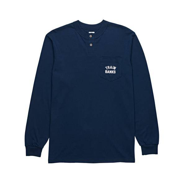 Polar Polar Train Banks Henley Longsleeve - Navy (size X-Large)