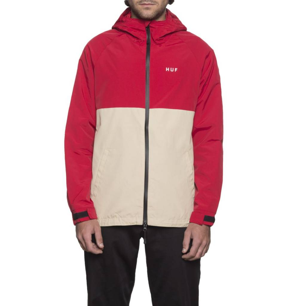 Huf Worldwide Huf Standard Shell Jacket - Red/Tan (size X-Large)