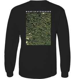 WKND brand Wknd Snakes Longsleeve T-shirt  - Black (size Small)