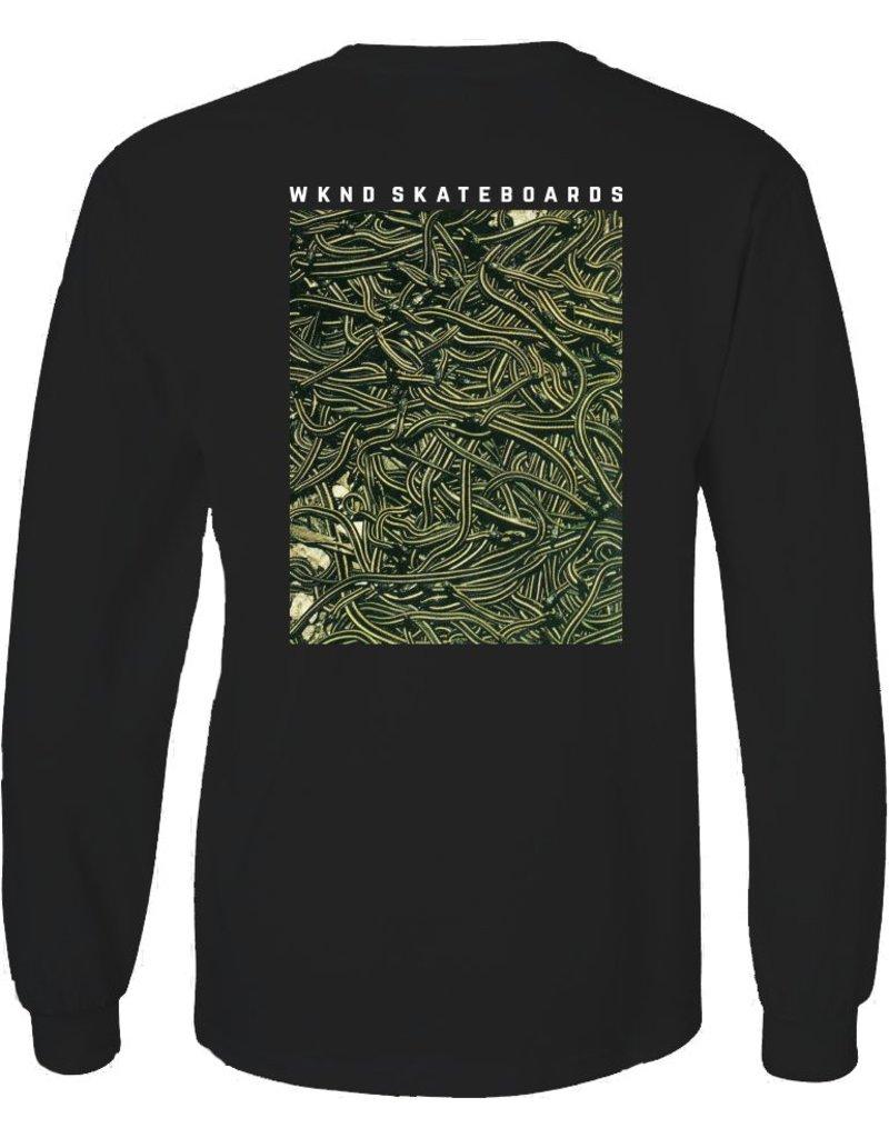 WKND brand Wknd Snakes Longsleeve T-shirt  - Black (size Small)