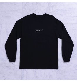 Quasi Quasi Logos LongsleeveT-shirt - Black (size Small or X-Large)