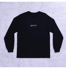 Quasi Quasi Logos LongsleeveT-shirt - Black (size Small)