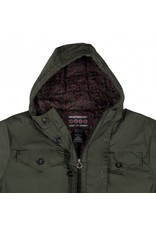 Independent Independent Maneuver Hooded Heavyweight Jacket - Dark Army Green (size Small)