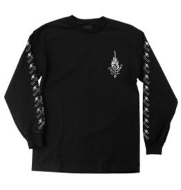 Independent Independent Jessee Black and White longsleeve t-shirt - Black (size X-Large)