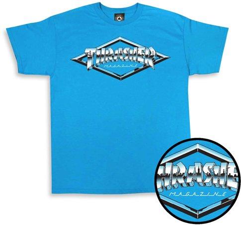 Thrasher Mag Thrasher Diamond Emblem T-shirt - Sapphire