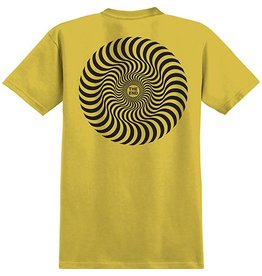 Spitfire Spitfire Classic Swirl T-shirt - Mustard/Black