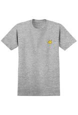 Krooked Krooked Fly Strait T-shirt - Athletic Heather/Yellow (size Large)