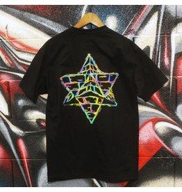 Pyramid Country Pyramid Country LA Tech T-shirt - Black/Rainbow