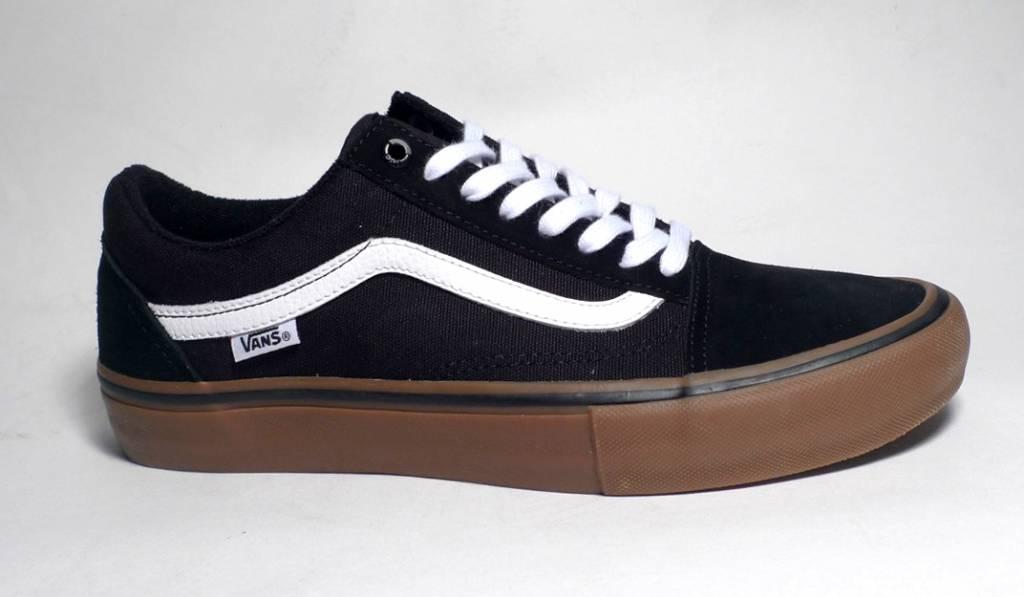 98809d9b1dadba Vans Old Skool Pro - Black White Medium Gum - FA SKATES