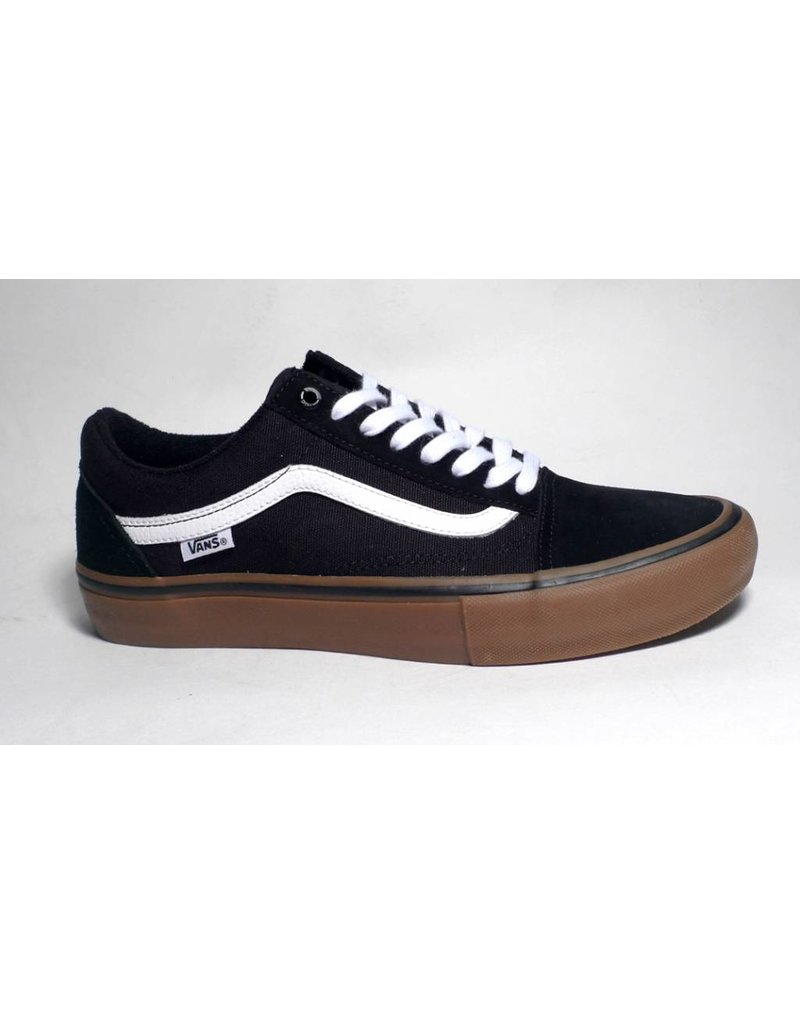 Vans Vans Youth Old Skool Pro - Black/White/Medium Gum (size 3.5 or 4)