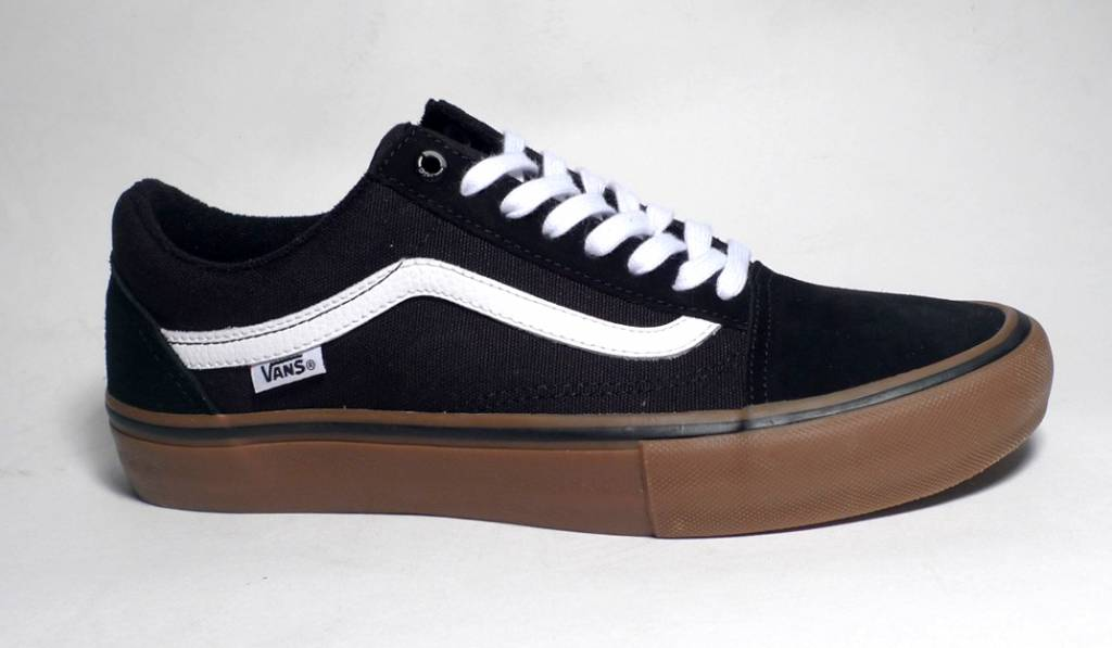 Vans Youth Old Skool Pro - Black White Medium Gum - FA SKATES 8e71dc77d