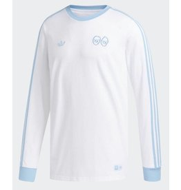 Adidas Adidas x Krooked Longsleeve Tee - White/Clear Blue