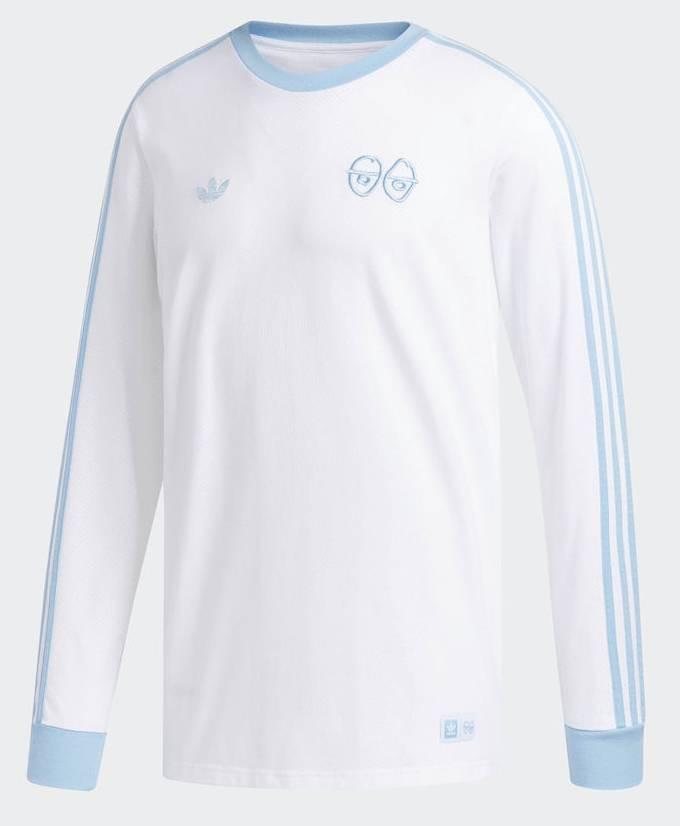 dcf575c6 Adidas x Krooked Longsleeve Tee - White/Clear Blue - FA SKATES
