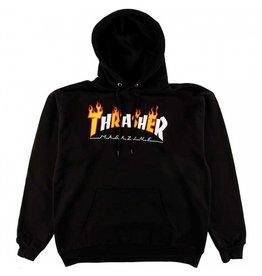 Thrasher Mag Thrasher Flame Mag Logo Hoodie - Black (size Large)