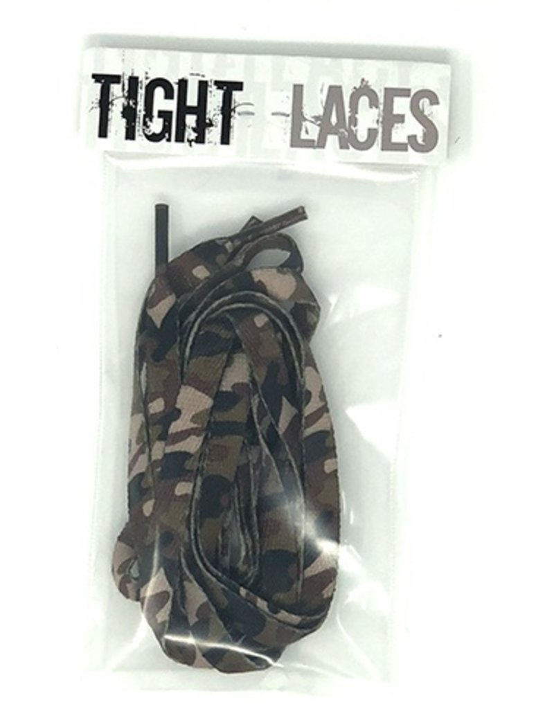 """Tight Laces Tight Laces Flat 45"""" - Camouflage Brown"""