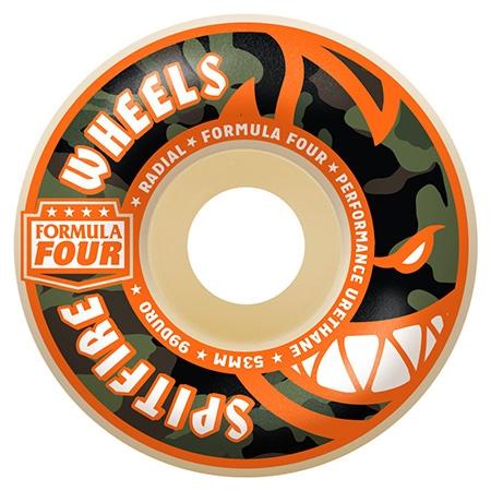 Spitfire Spitfire Formula Four Covert Radials Natural 52mm 99d wheels (set of 4)