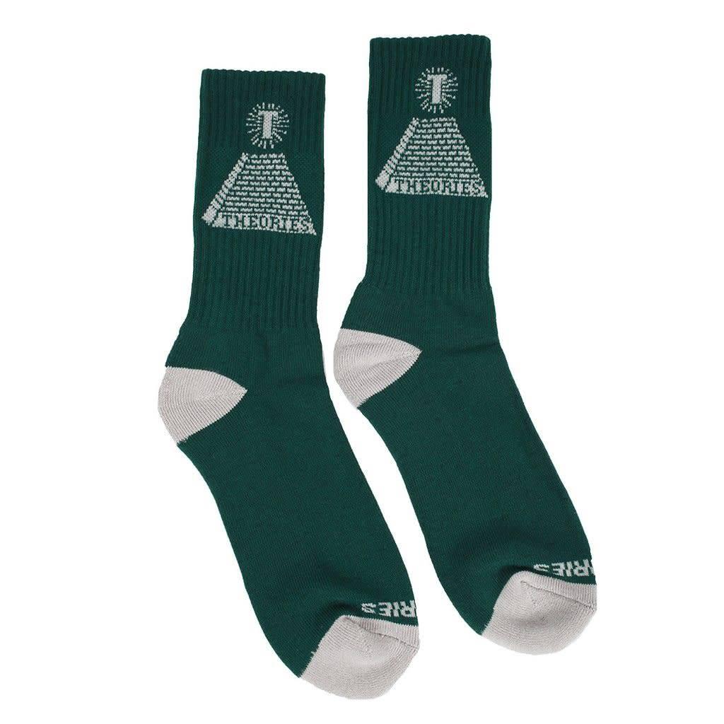 Theories Brand Theories Theoramid Sock - Heather - Olive/Beige